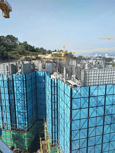 广东深圳某楼群建筑工地客户反馈图片